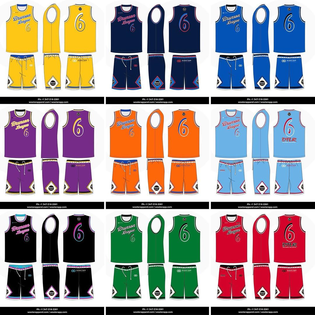 Behind The Jersey: While the Brunson League uniforms last summer featured bold font lettering across the front of the jersey and the Baltimore skyline on the trim of the shorts, this year's jersey features script lettering, the Brunson League logo on the shorts, and a more vast color scheme for teams competing for a Championship.