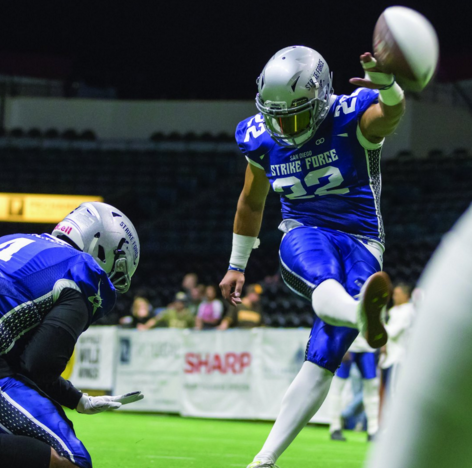 Wooter Athlete of the Month: Since graduating from Hastings College in Nebraska and turning pro in 2011, Ernesto Lacayo used his experience around football and a strong leg to help the San Diego Strike Force rank 1st in the Indoor Football League with 92.5 PAT% during the 2019 season.