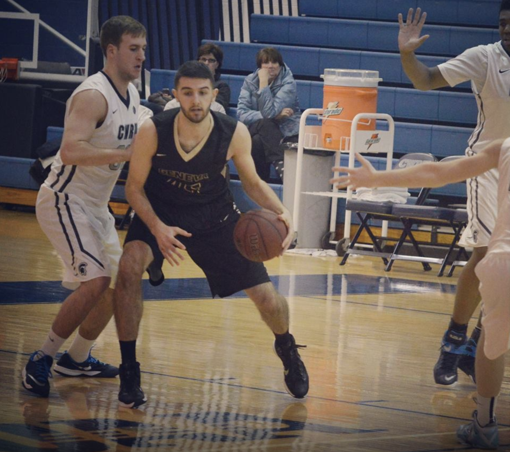 Rock On: A 6-foot-5 forward and center, Rocky Higgins left his mark on the court at Geneva College, where he earned letters during both 2015 and 2016 seasons and emerged as a team leader before shifting his focus to coaching youth basketball.