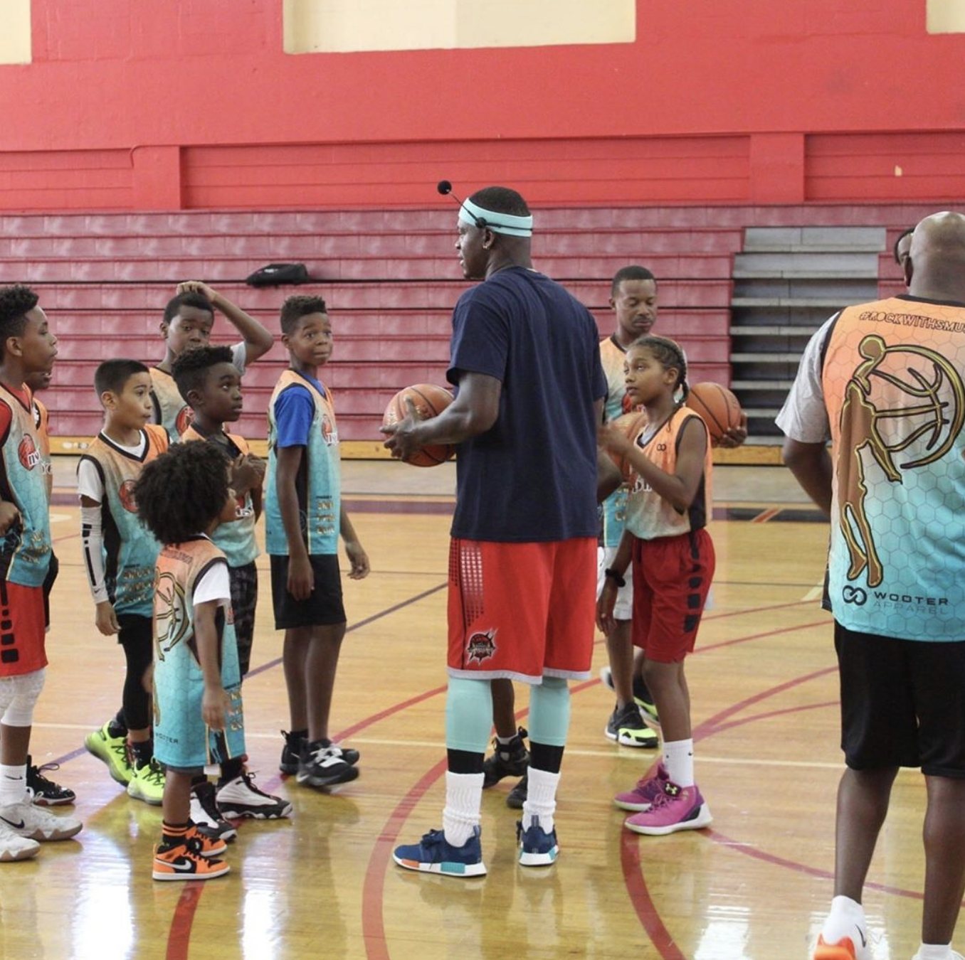 The Big Give Back: When former NBA guard Smush Parker conducted his free basketball clinics in Cleveland, Atlanta, Houston, New York, Mississippi, Los Angeles, and Florida, young basketball players sported customized Smush Parker Elite jerseys by Wooter Apparel.