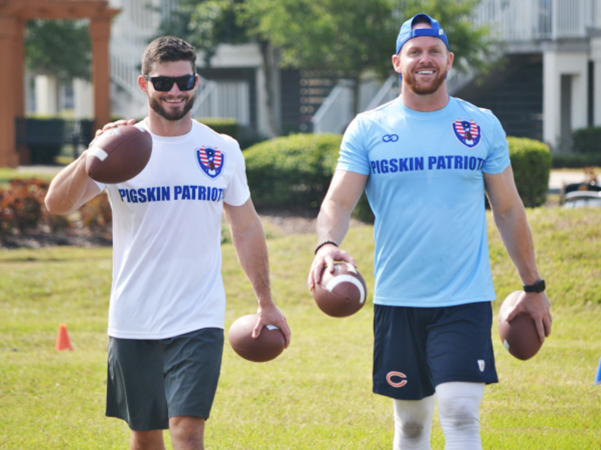 The Pigskin Patriots — a 501 c3 non-profit organization founded by NFL and Buffalo Bills assistant coach Chad Hall — are just one of many sports organizations teaming-up with Wooter to give back through football to military families and their children by providing free football camps and clinics.