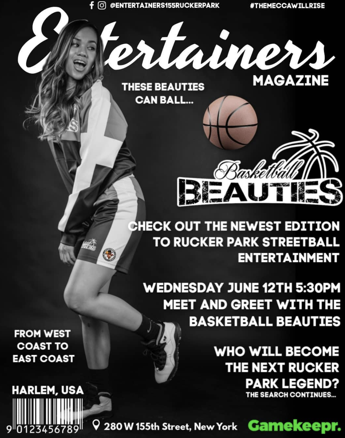 California Cover Girl: Kookie graced the front of Entertainers Magazine this past June in New York as the Entertainers Basketball League hosted the Basketball Beauties League for their annual meet and greet to kick-off the season playing at Rucker Park.