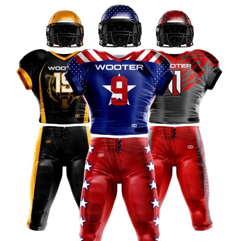 Custom Football Uniform Designs 3D Mockup