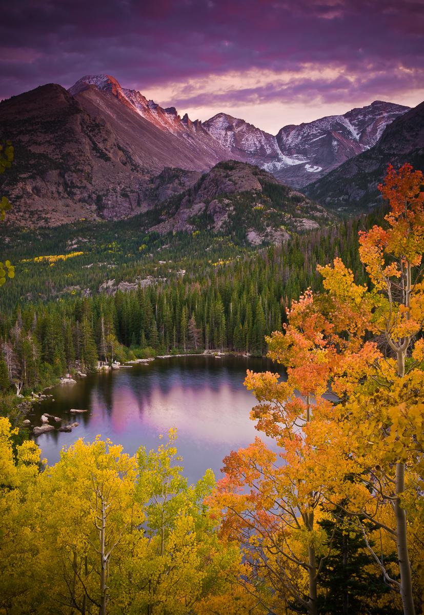 Aspen Sunset Over Bear Lake