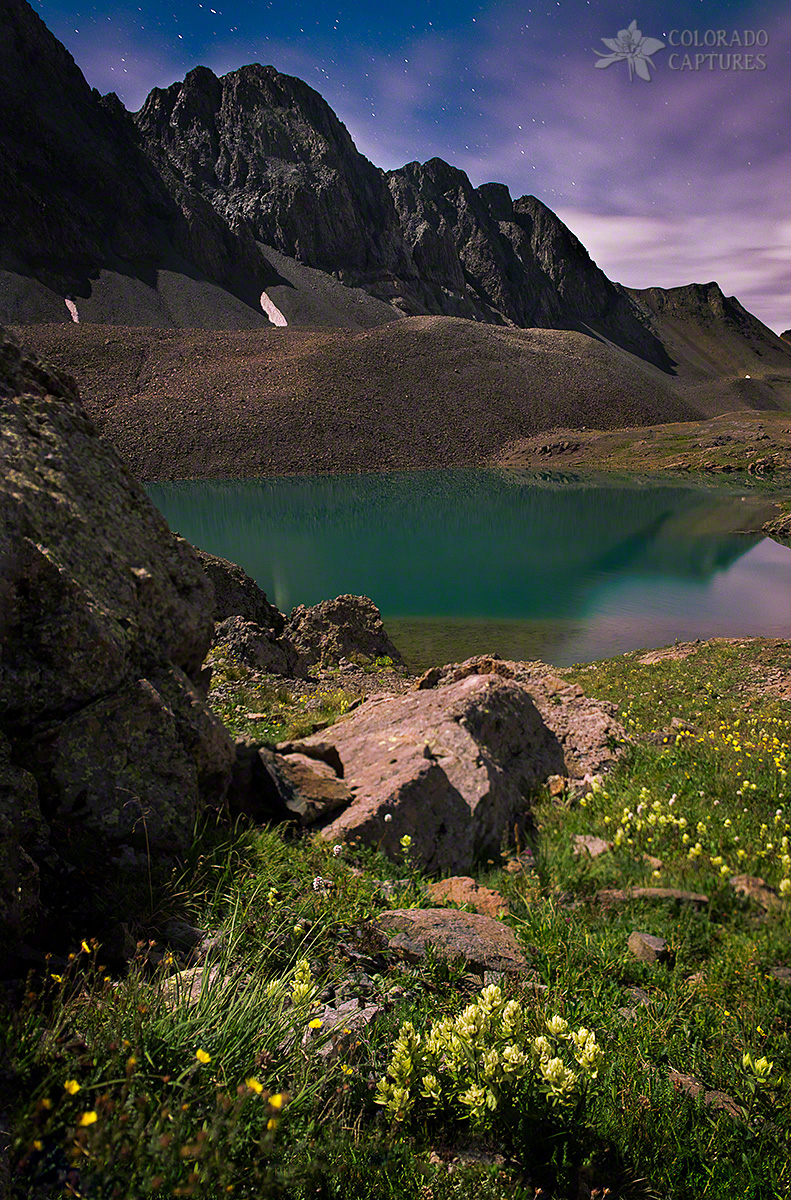 Nightscape Bouquet Of Colors In American Basin