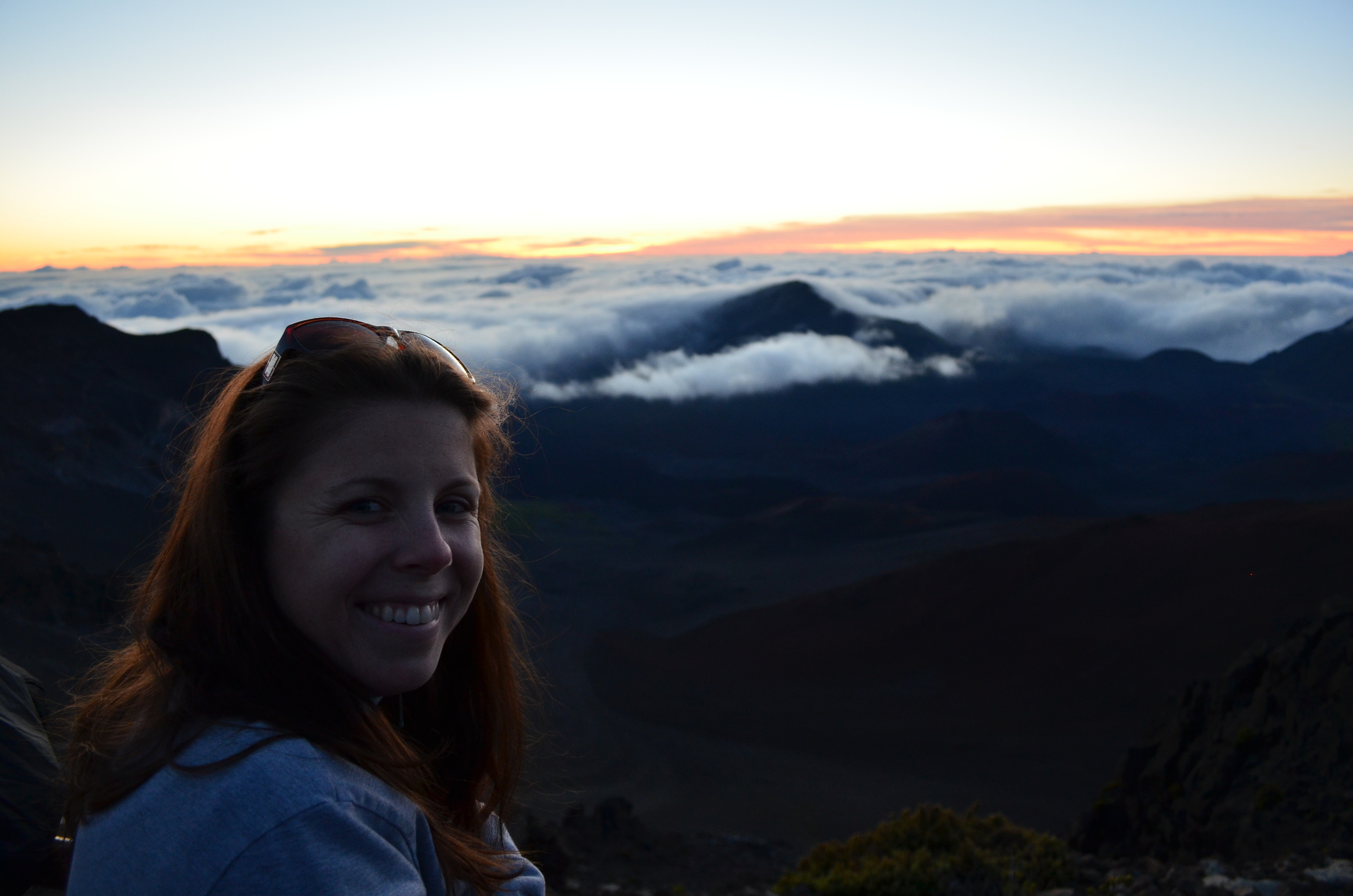 Wifey on honeymoon waiting on sunrise at Haleakalā National Park, Maui, Hawaii   Nikon D5100 DSLR Camera with 18-55mm f/3.5-5.6 Auto Focus-S Nikkor Zoom Lens
