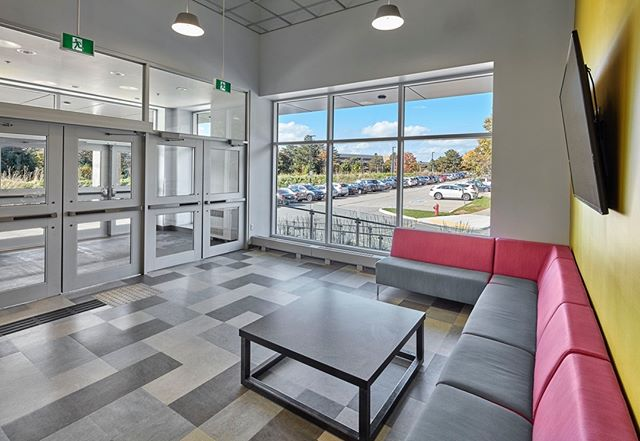 Foyer at main entrance to Residence at @uofwaterloo - Masrio Architects. #architecture