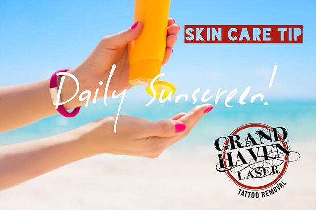 #skincaretip - from prevention of wrinkles and sun damage to healthier looking skin, there's no doubt sunscreen has long term advantages to your overall skin health. Not to mention it's EXTRA important to use in between #lasertattooremoval sessions! #ghlasertattooremoval