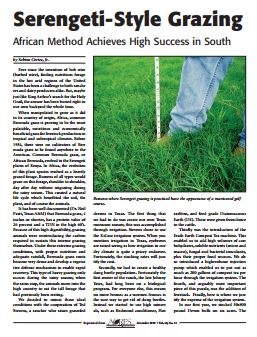 Article from Acres USA 2010