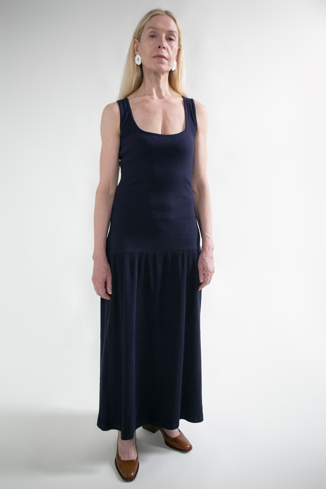 Delfina Balda Navy Ribbed Dress  XS S M L  $298