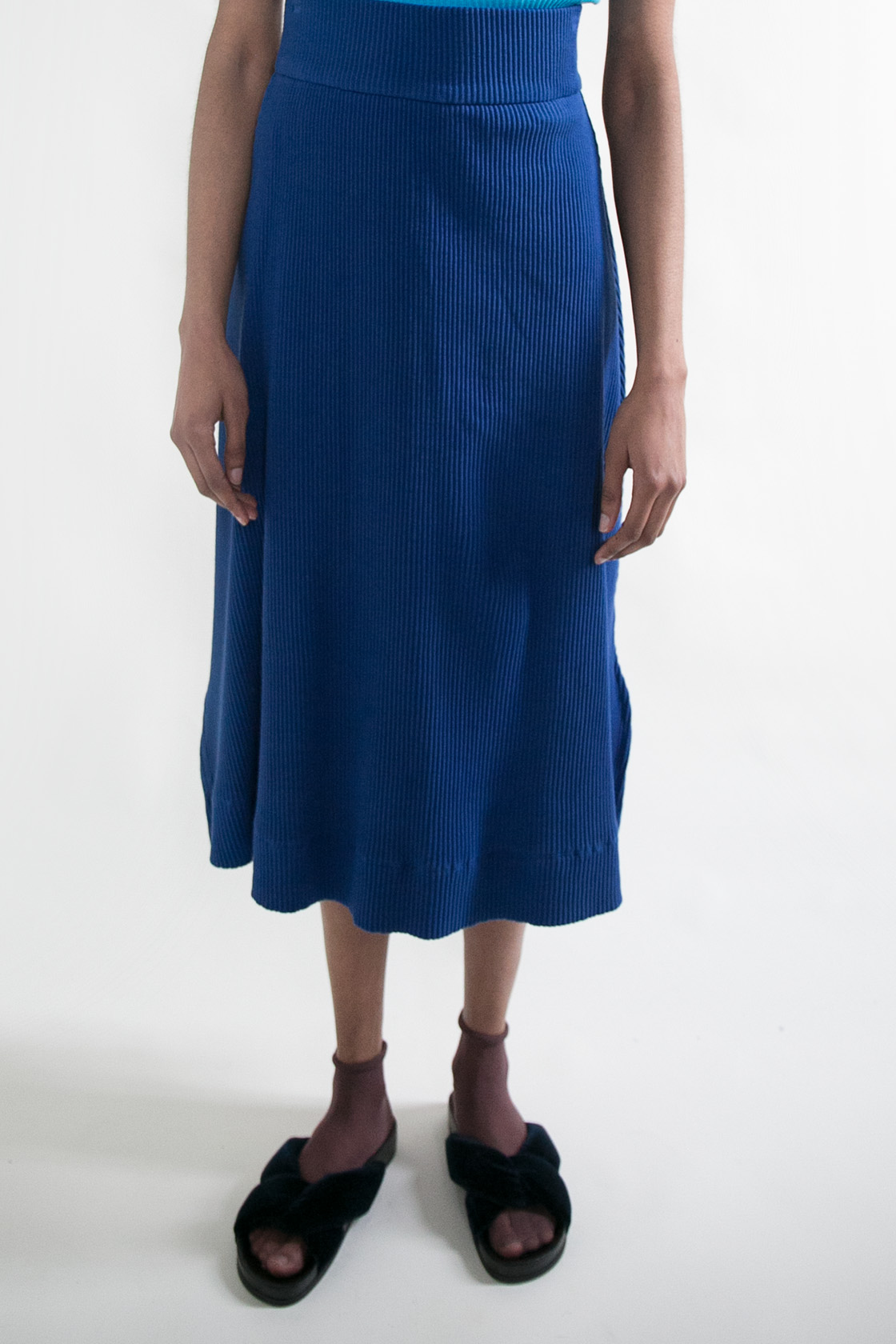 Basic Color Skirt in Cobalt  XS S M L  $225
