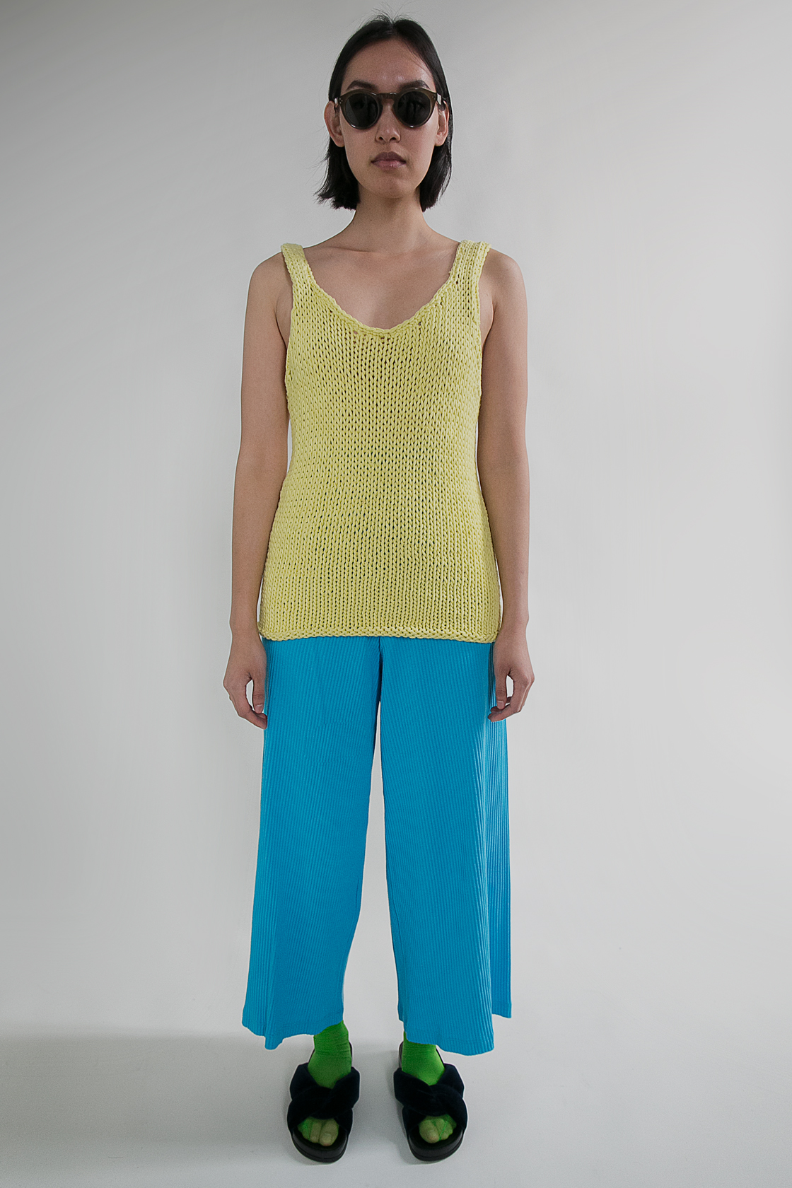 Hand Knitted Lemon Top  S  $225.00