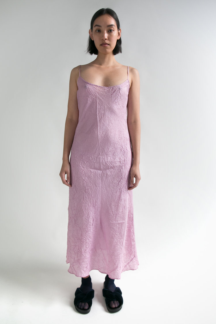 Wrinkled Silk Slip Dress  S  $368