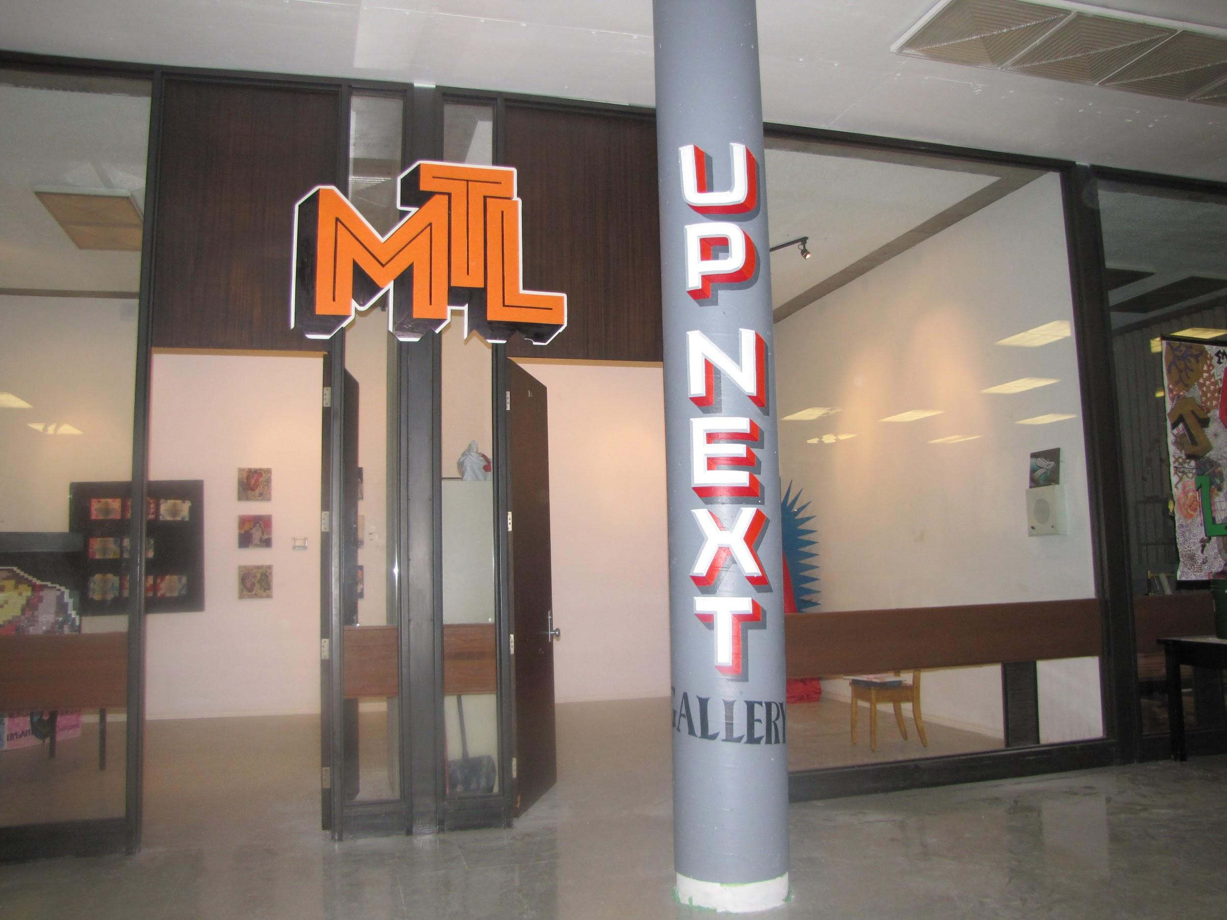The student-curated  Up Next  gallery in MHS