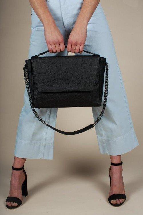 pineapple leather handbag