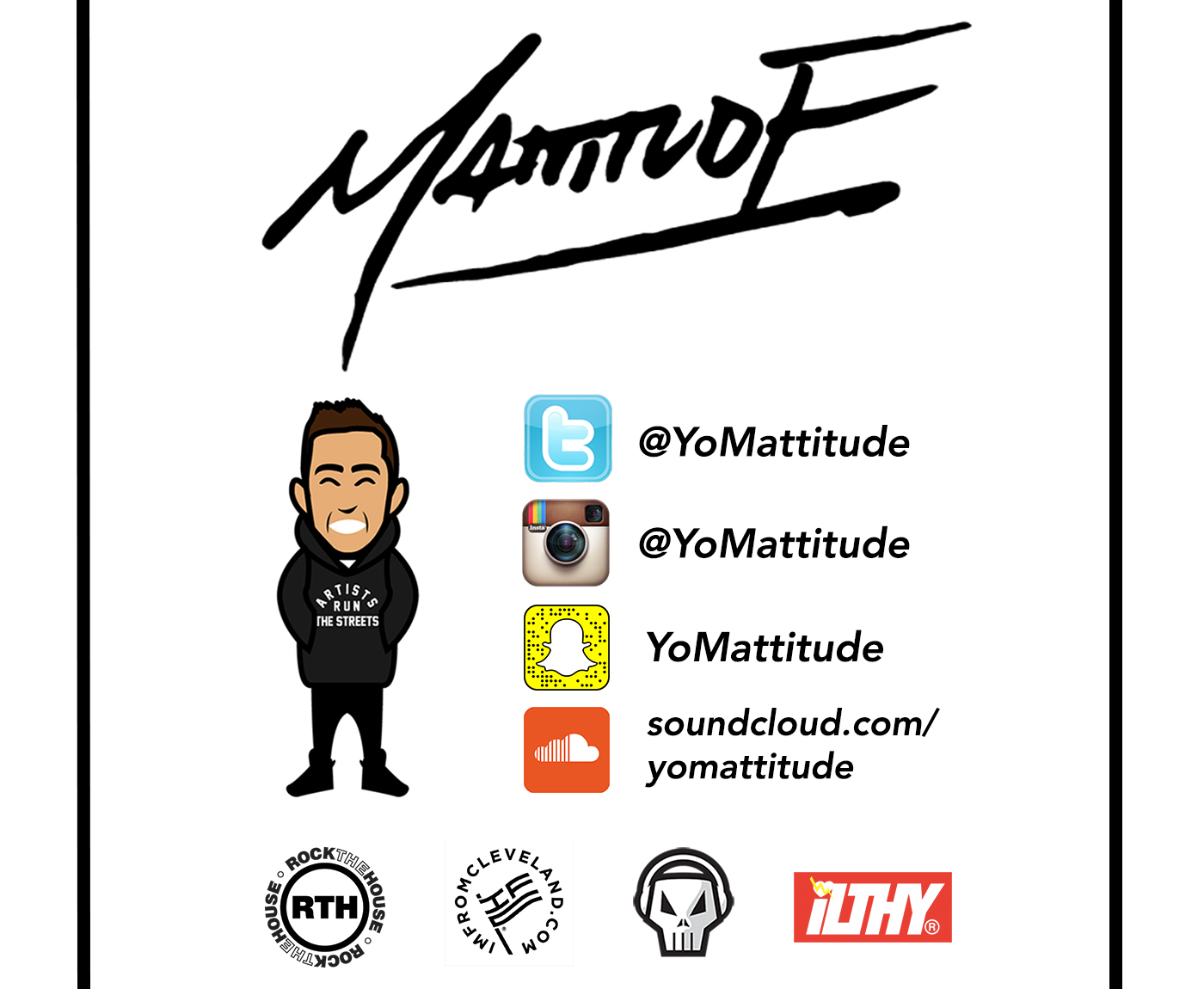 Mattitude DJs a wide variety of events both Freelance and through Rock The House Entertainment, as well as various other services including social media management, single editing, and mixtape hosting. Send a message at the right for more information on any of Mattitude's services or rates.