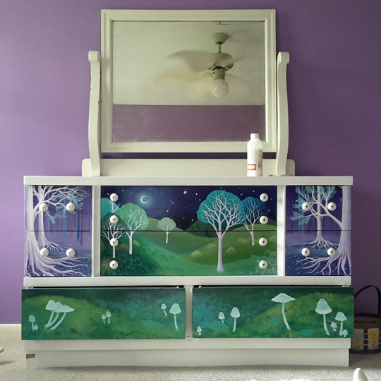 The dresser I pained last year for my daughter.