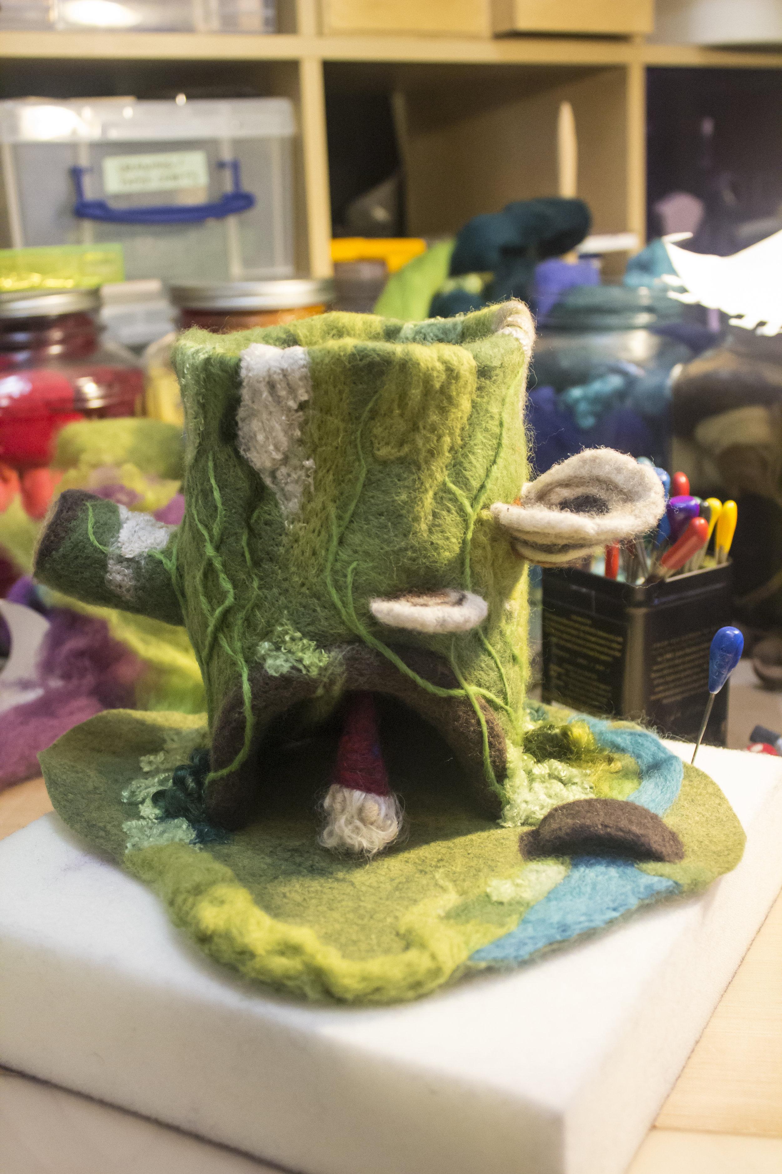 Gnome in his gnome-home