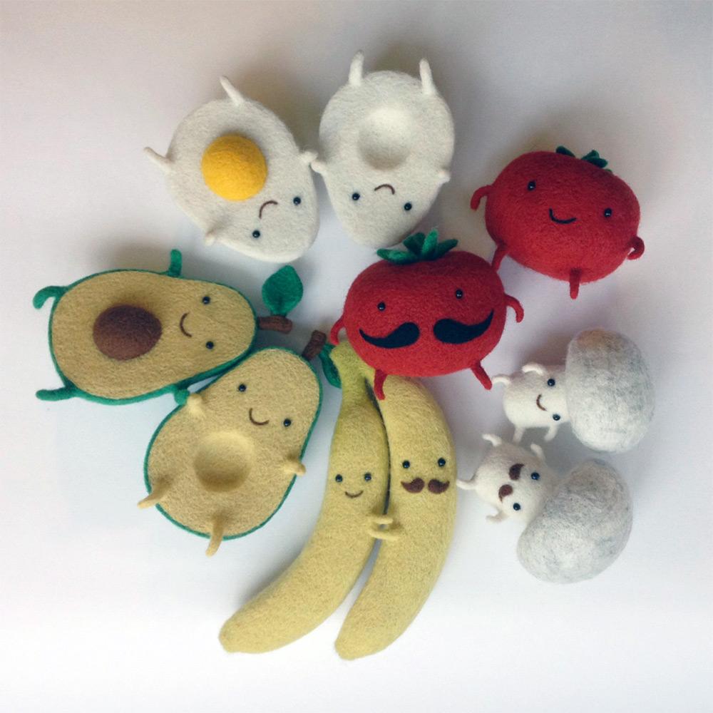 Felt Food Friends by Hanna Dovhan