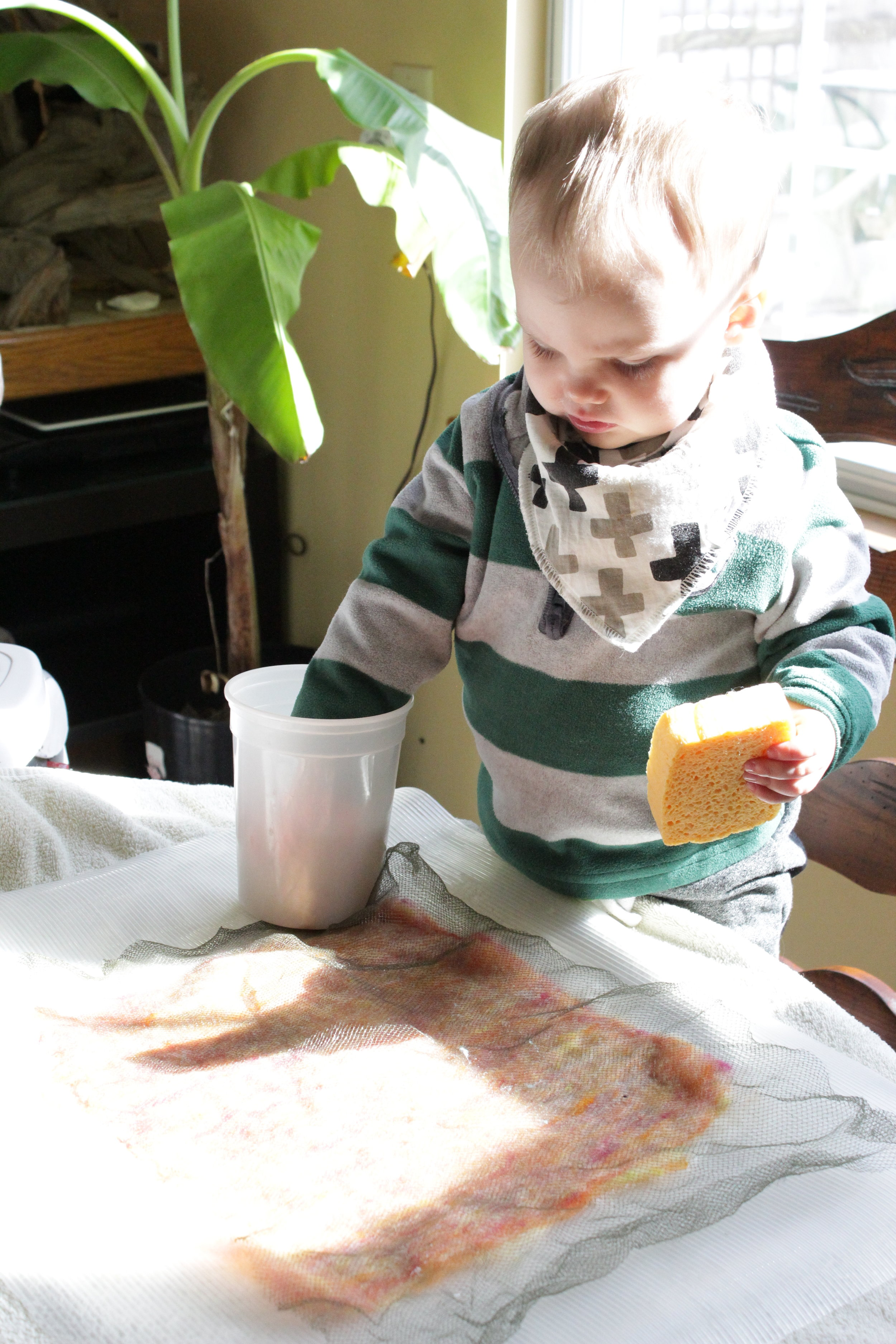 Wet felting with toddlers can be fun!