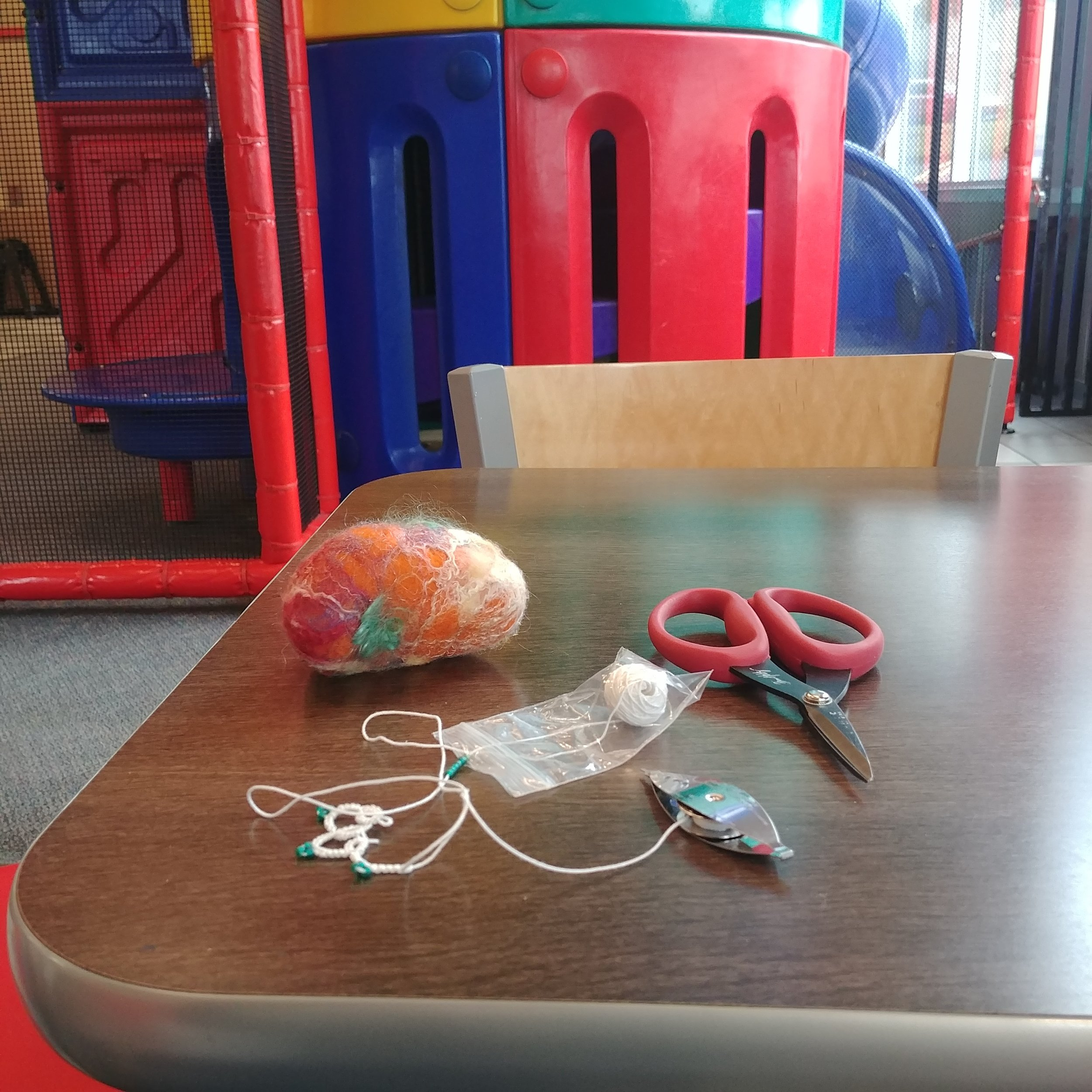 Shuttle Tatting at the Burger King playground