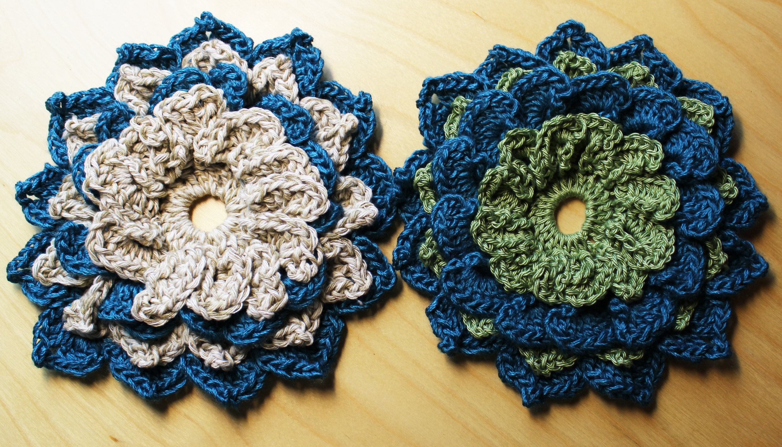 crochet flowers star magnolias