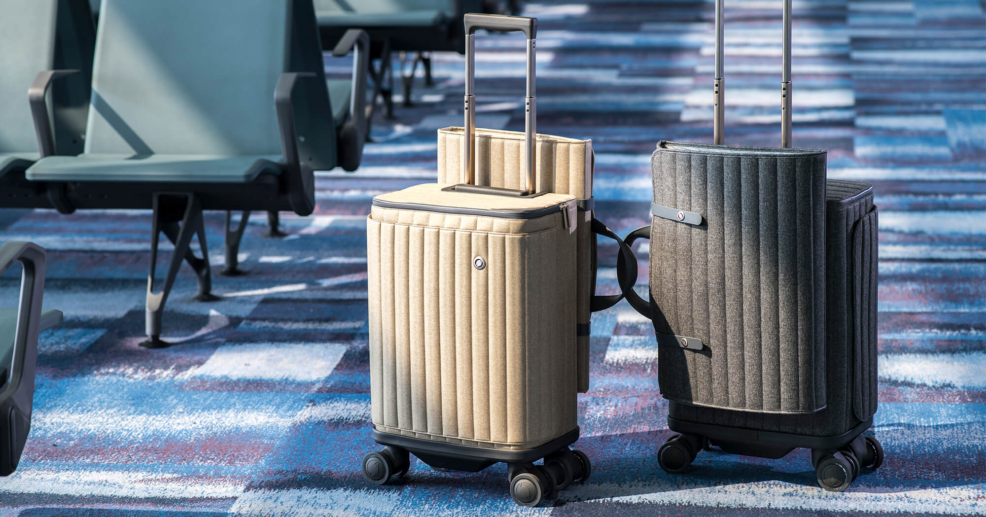 Rollogo-Escape-smart-luggage-mobile-office-grey and champagne version.jpg
