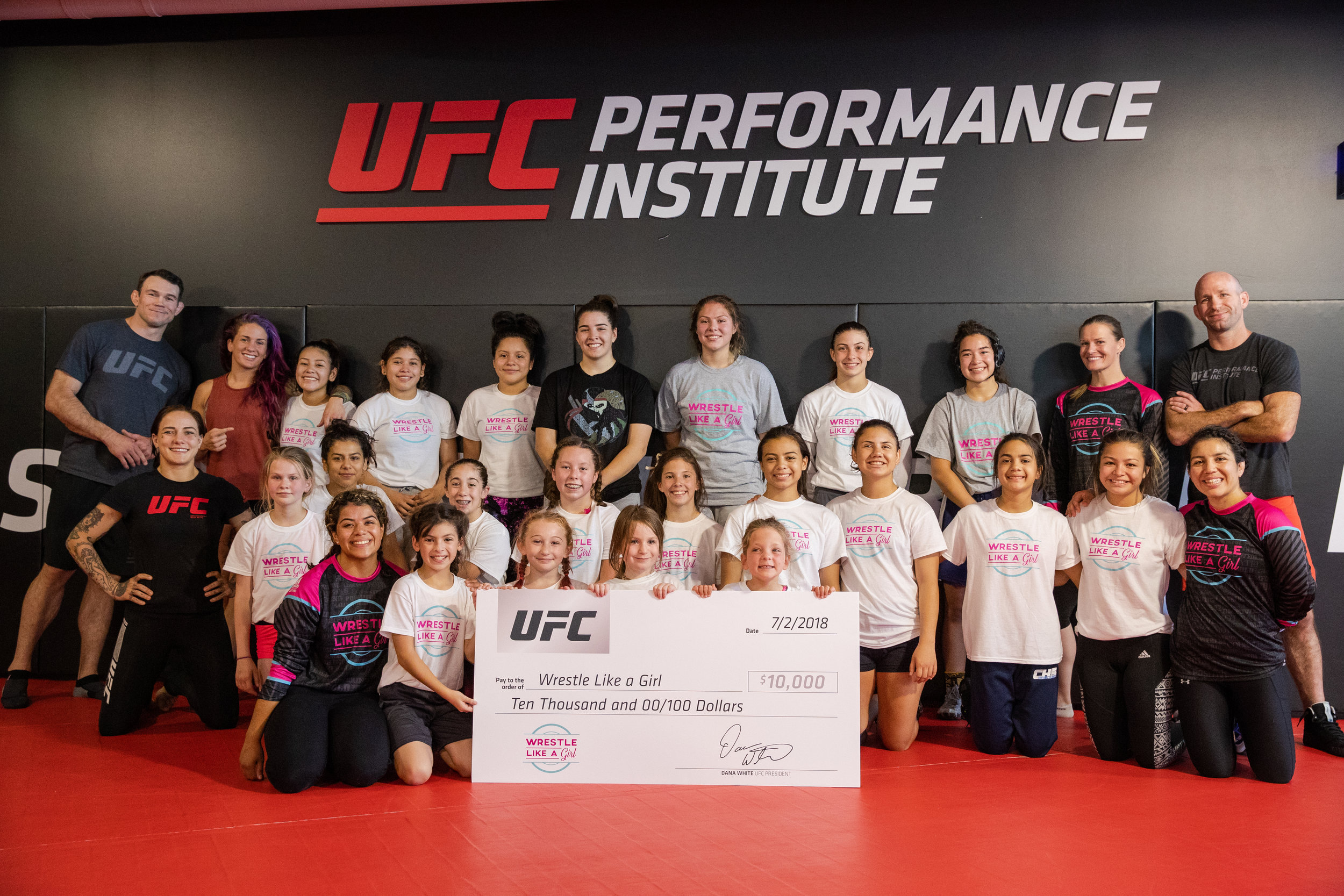 """UFC, Wrestle Like a Girl team up for Empowerment Camp and Clinic at UFC Performance Institute - MMAJunkie.com - By: John Morgan and Ken Hathaway 