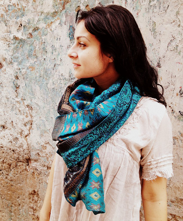 These exceptional scarves are brought to you from the ethical brand  House of Wandering Silk.