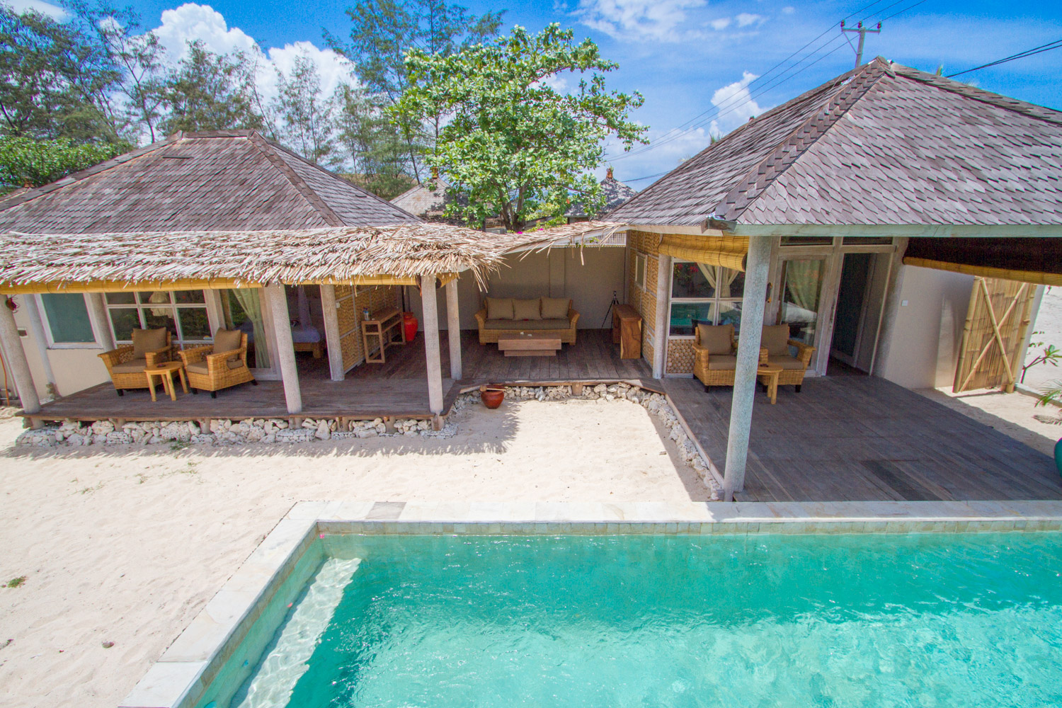 2 bedrooms villa with private pool and garden - Avia villa Resort Gili Meno