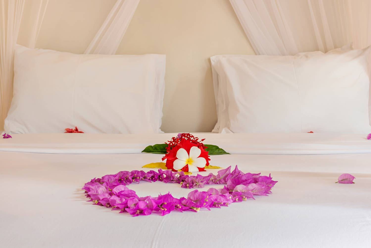 Romantic bed - Gili Meno - Avia Villa Resort