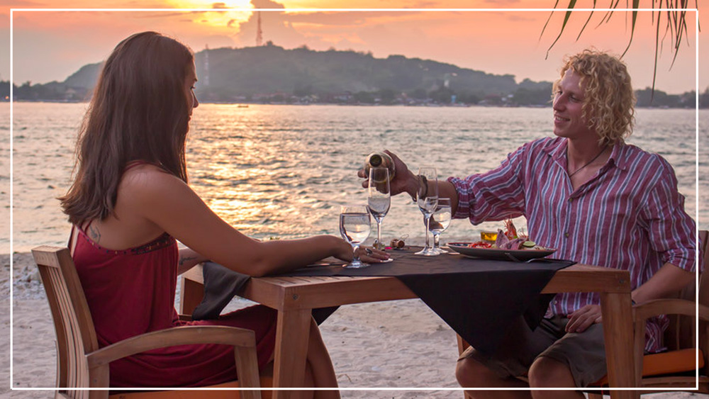 Romantic dinner Avia beach