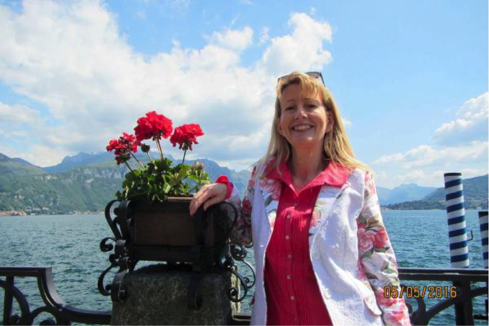 The novelist Erica James on Lake Como, where she has a second home