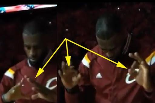 LeBron James Satanic hand signs and symbols2.jpg