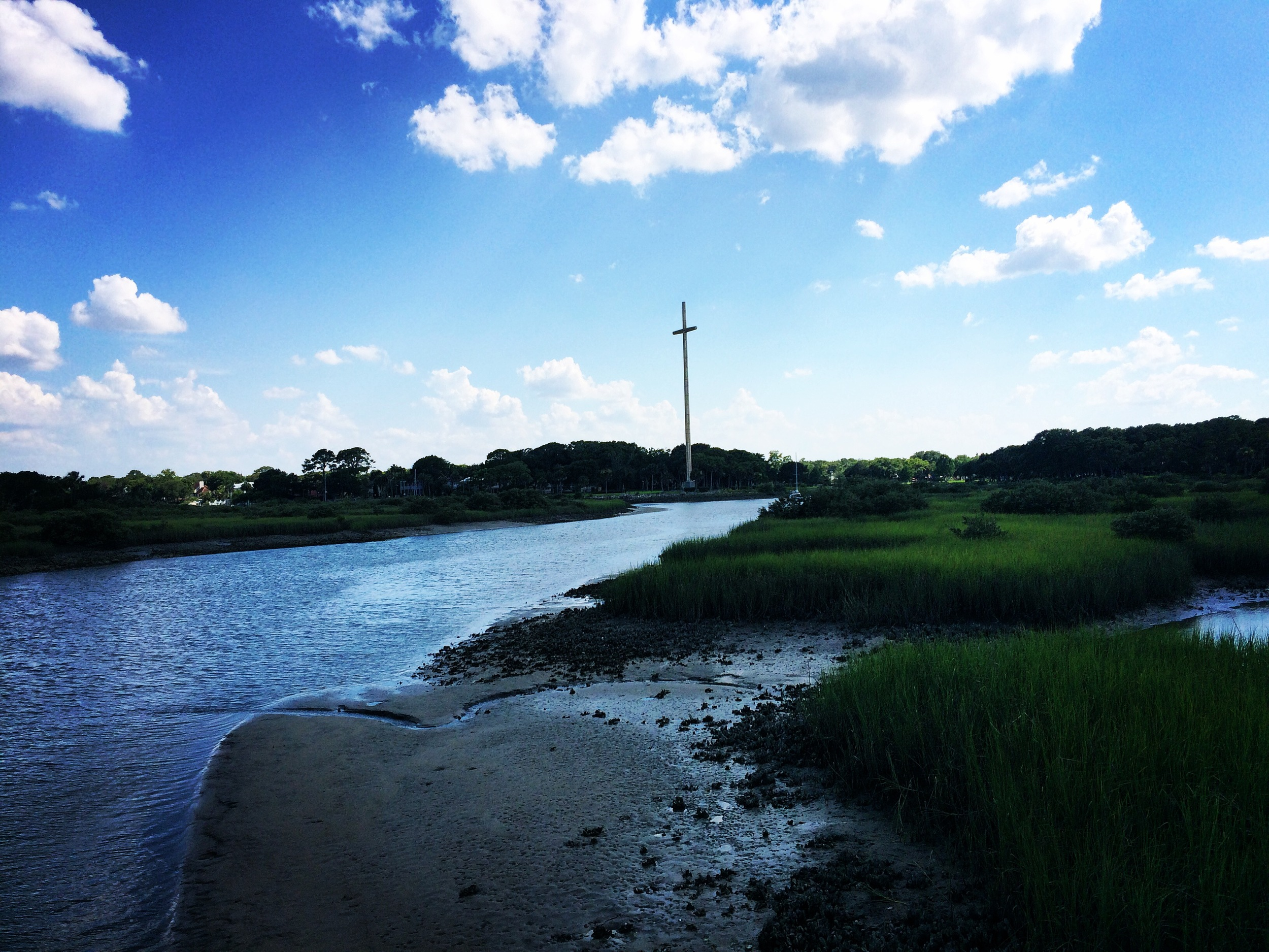 This is the waterway that was used to land in St. Augustine. The landing site is marked by the worlds tallest cross.