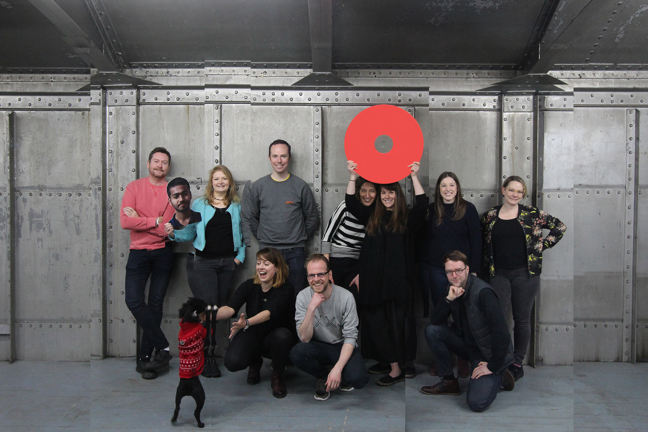 The Architecture Fringe 2019 production team: [L-R] Andy Summers, Dhamintha Wickremasinghe, Obi, Liane Bauer, Rūta Turčinavičiūtė, Neil McGuire, Chris Dobson, Marion Preez, Eilidh Izat, Olivia Turner, Sam Comrie and Leah Lockhart. Photo: Robb Mcrae