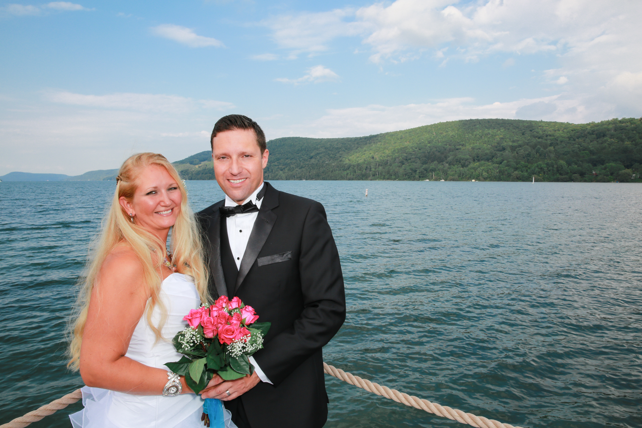 Photo of a lake side wedding in upstate, NY