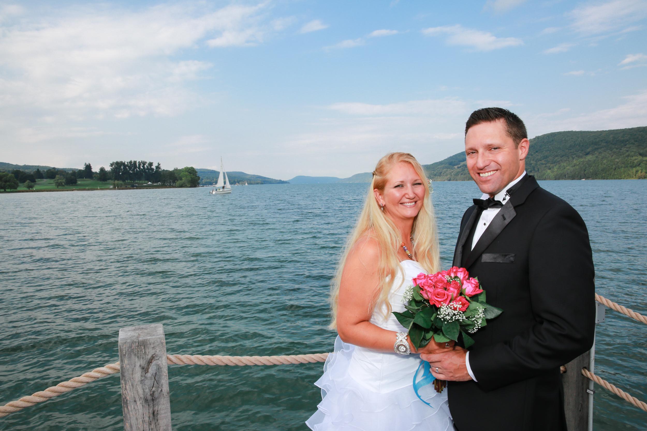 Formal wedding photo in Lake George
