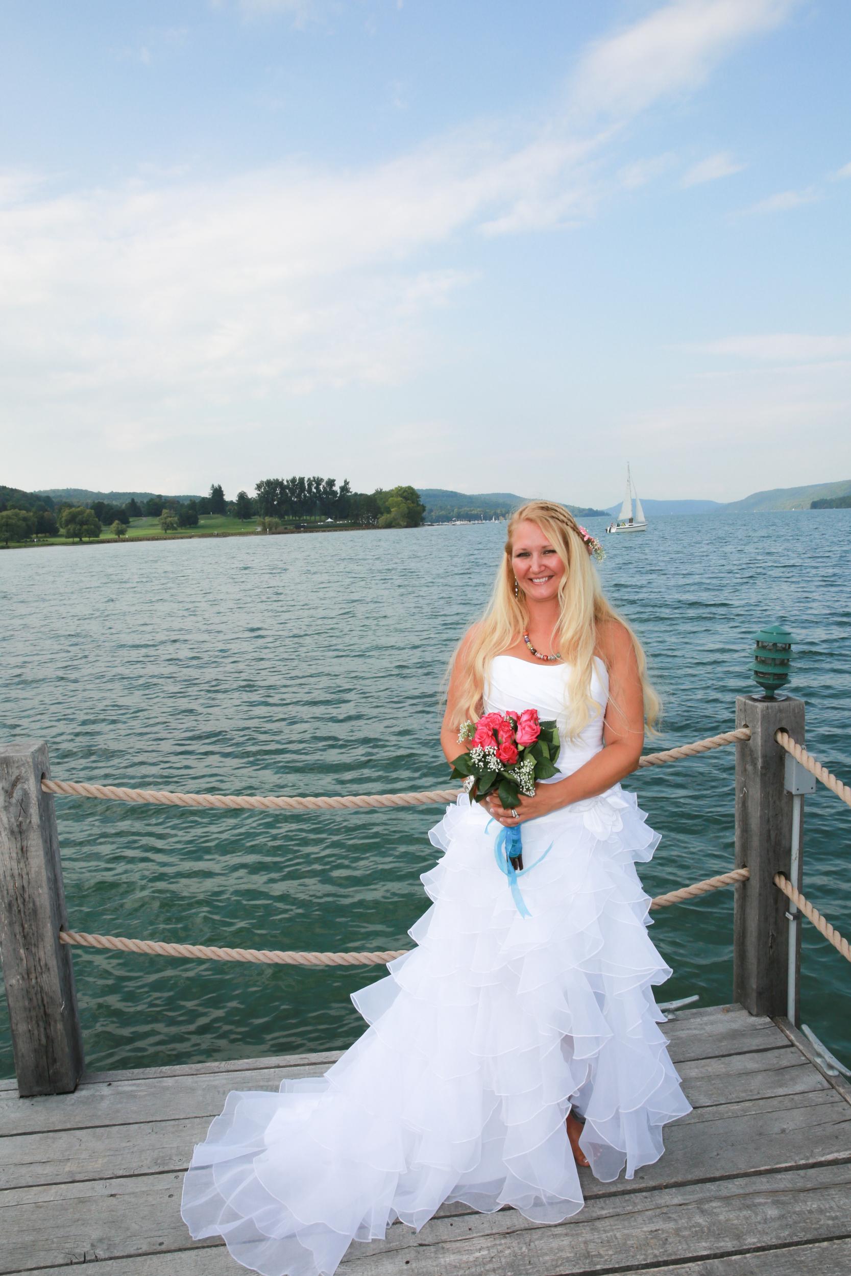 Bridal Portrait at Lake George