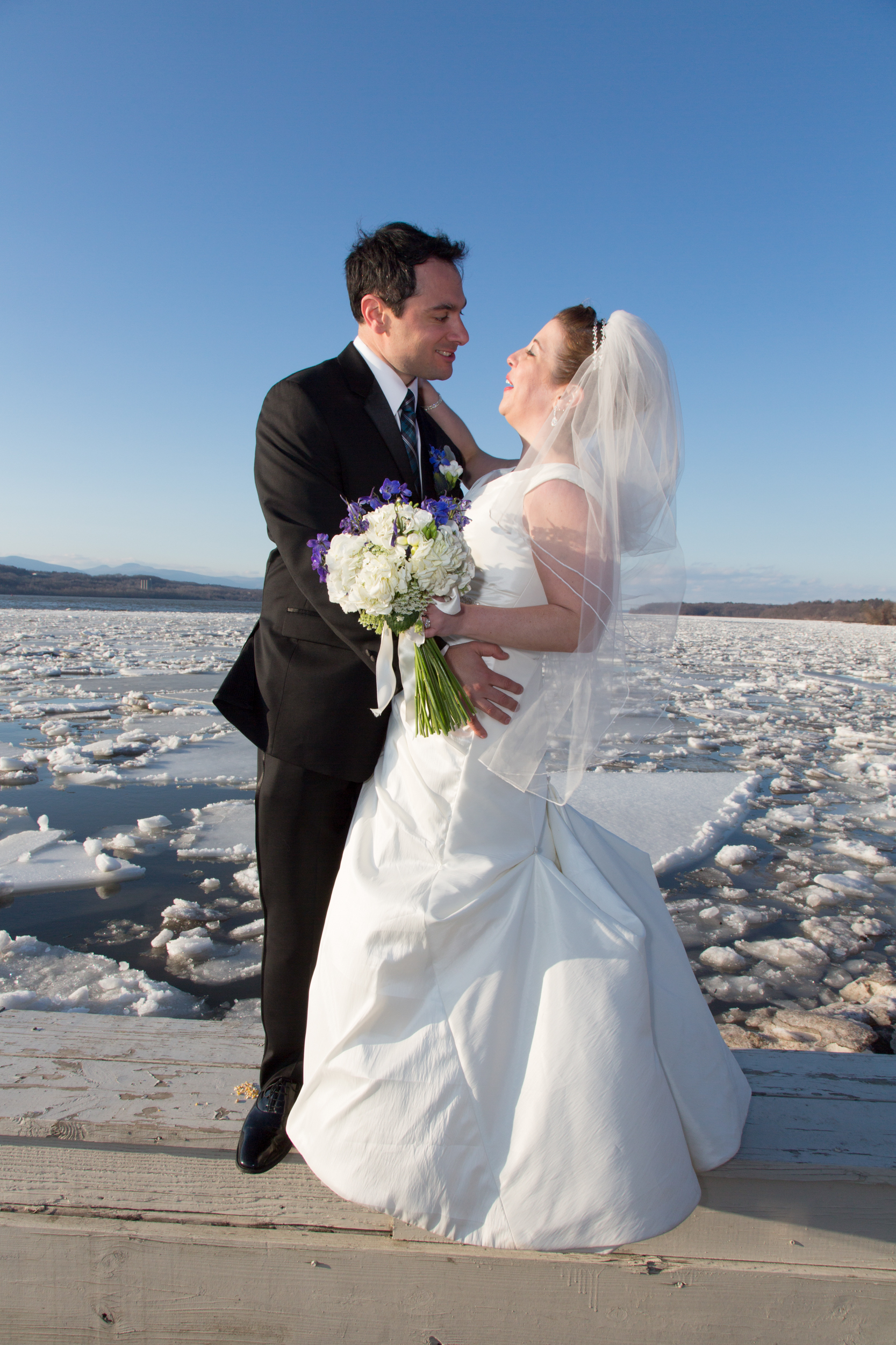 Hudson River Winter Wedding
