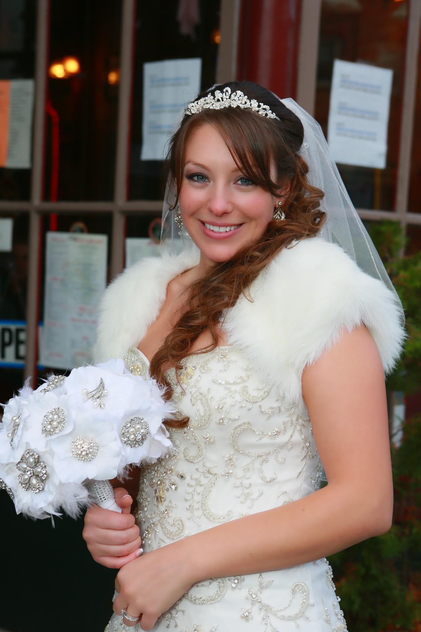 Portrait of Winter Bride in Kingston NY