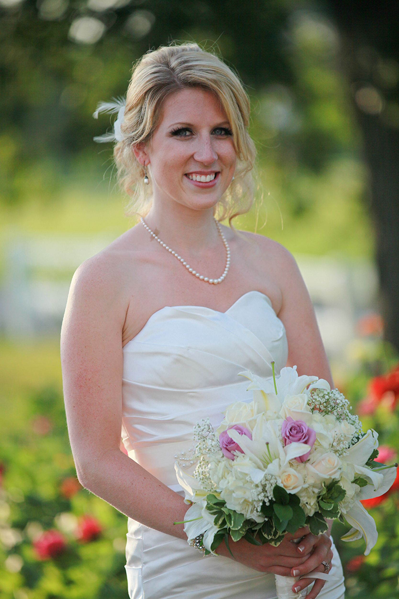 Lovely bride at the Albany Country Club