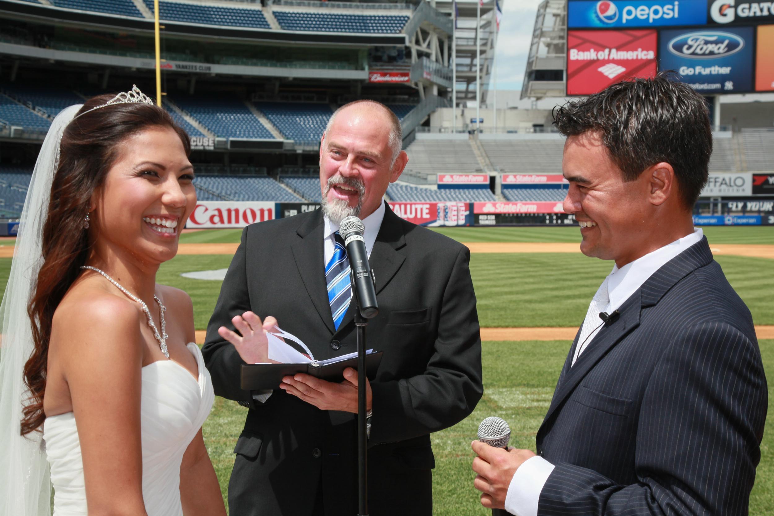 Wedding at Yankee Stadium