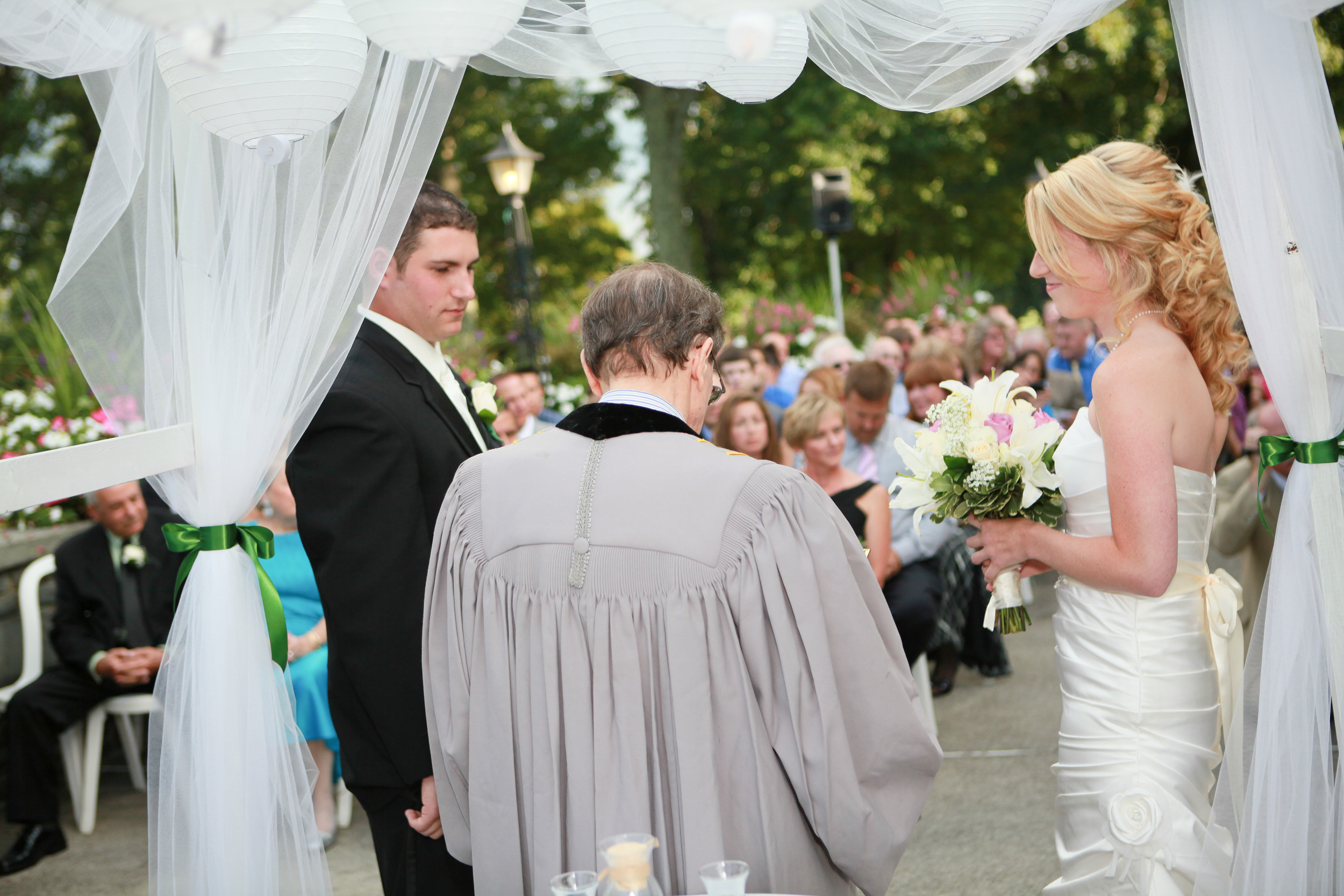 A wedding ceremony at the Albany county club