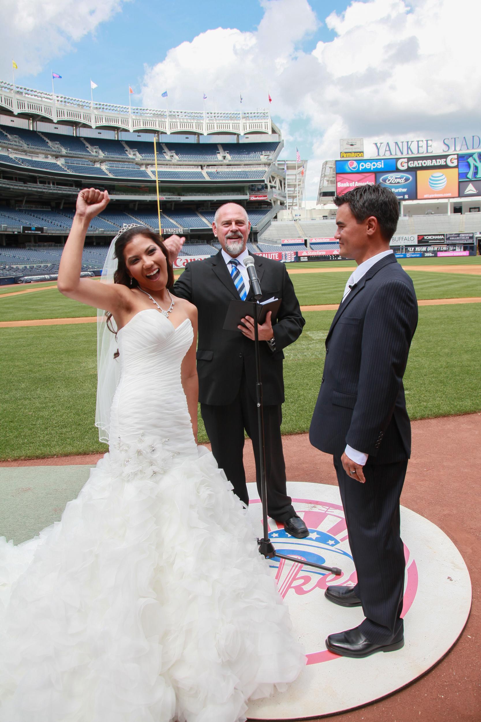 Yankee Stadium Wedding Party