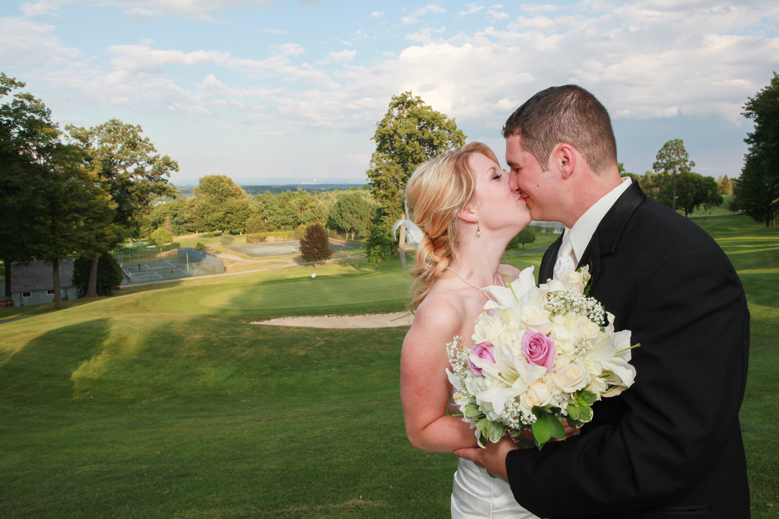 Golf course wedding in Albany