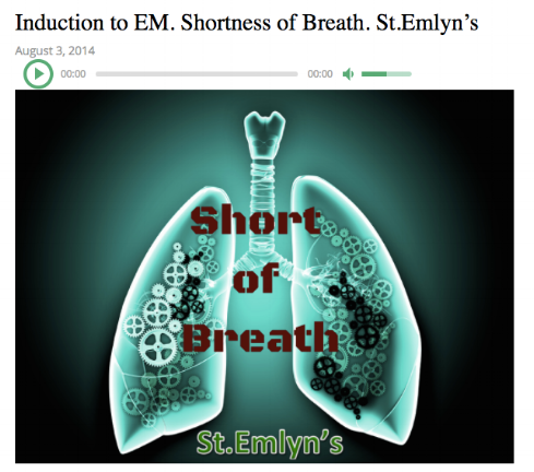 - A blog and podcast by the St. Emlyn's team discussing an approach to the breathless patient.
