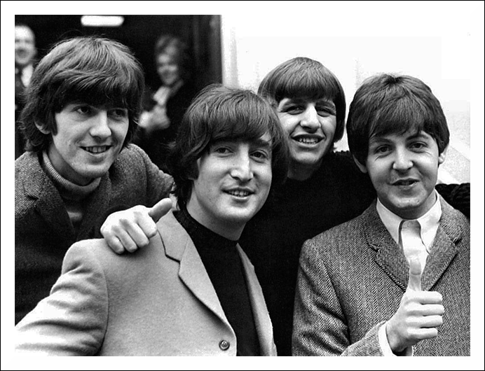 Oliver gives the thumbs up to The Beatles