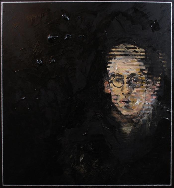 Down Hill (Self-Portrait)