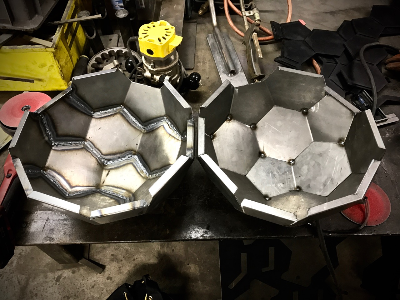 Prototype geodesic dome grill